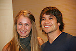 Fan Taylor tuzzalo poses with Dominic Zamprogna - General Hospital  came to Uncle Vinny's/Ferraras at the Crown Plaza in Trevose, Pennsylvania on April 22, 2010 to see fans with a q & a and autographs and taking of photos. (Photo by Sue Coflin/Max Photos0