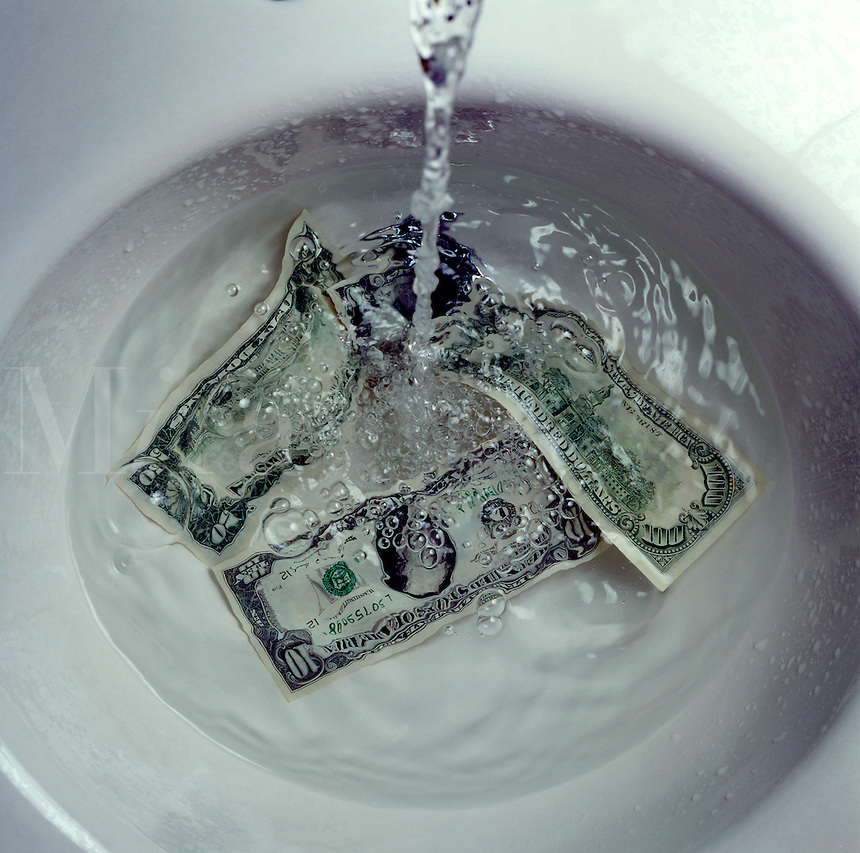 Money down the drain, laundering money