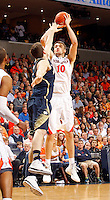 Virginia forward/center Mike Tobey (10) during the game Saturday, February 22, 2014,  in Charlottesville, VA. Virginia won 70-49.