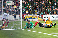 9th February 2020; Broadwood Stadium, Cumbernauld, North Lanarkshire, Scotland; Scottish Cup Football, Clyde versus Celtic; Scott Brown of Celtic puts Celtic into a 2-0 lead in the 40th minute