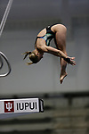 INDIANAPOLIS, IN - MARCH 18: Rebecca Quesnel of Florida International University competes in the platform dive during the Division I Women's Swimming & Diving Championships held at the Indiana University Natatorium on March 18, 2017 in Indianapolis, Indiana. (Photo by A.J. Mast/NCAA Photos via Getty Images)