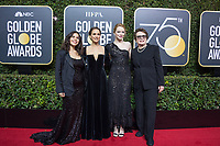 America Ferrera, Natalie Portman, Emma Stone, nominated for BEST PERFORMANCE BY AN ACTRESS IN A MOTION PICTURE &ndash; COMEDY OR MUSICAL for her role in &quot;Battle of the Sexes,&quot; and Billie Jean King arrive at the 75th Annual Golden Globe Awards at the Beverly Hilton in Beverly Hills, CA on Sunday, January 7, 2018.<br /> *Editorial Use Only*<br /> CAP/PLF/HFPA<br /> &copy;HFPA/PLF/Capital Pictures