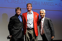 John Kerr Jr., Hall of Fame inductee Bruce Murray, and US Soccer President Sunil Gulati during the 2011 National Soccer Hall of Fame induction ceremony in Foxborough, MA, on June 04, 2011.
