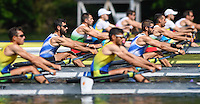 Lucerne, SWITZERLAND<br /> GRE LM2X. Bow. Georgious KONSOLAS and Elefterios KONSOLAS. <br /> 2016 European Olympic Qualifying Regatta, Lake Rotsee.<br /> <br /> Sunday  22/05/2016<br /> <br /> [Mandatory Credit; Peter SPURRIER/Intersport-images]