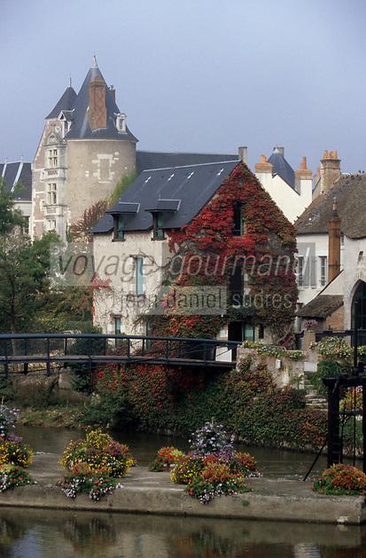 Europe/France/Centre/41/Loir-et-Cher/Sologne/Romorantin-Lanthenay : Les bords de la Sauldre et le vieux moulin