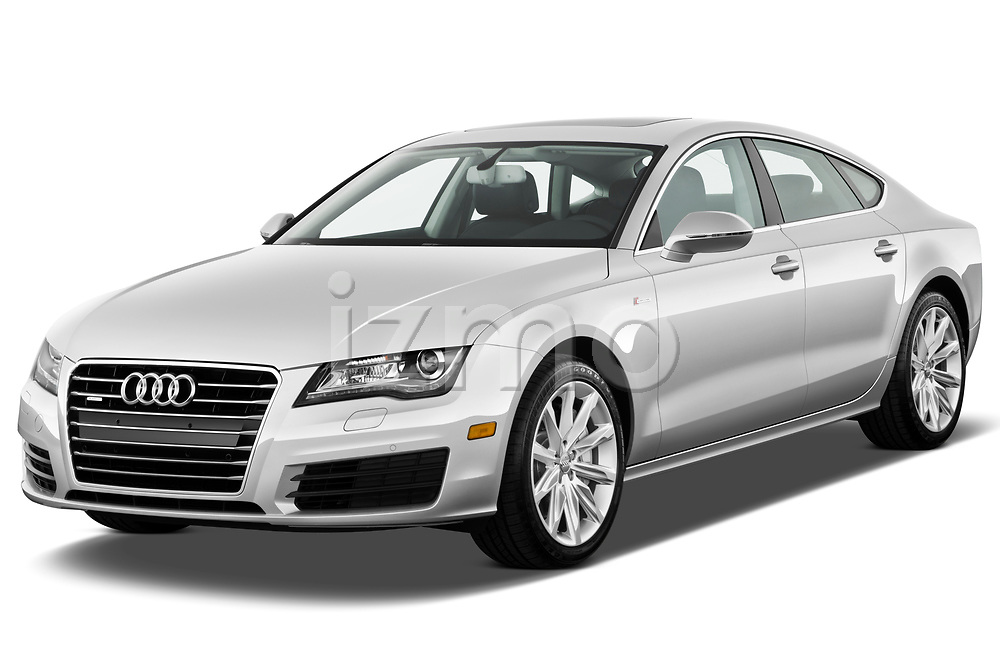 2012 Audi A7 Sportback 4 Door Hatchback angular front stock photos of front three quarter view