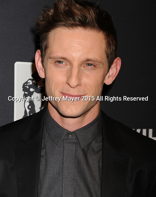 LAS VEGAS, NV - APRIL 22: Actor Jamie Bell attends the Pioneer Dinner during 2015 CinemaCon at Caesars Palace on April 22, 2015 in Las Vegas, Nevada.