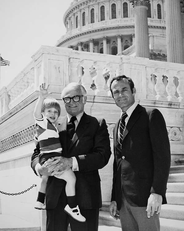Sen. Barry Goldwater, R-Ariz, with his son and grandson. 1977 (Photo by CQ Roll Call)