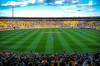 A general view of the International Twenty20 cricket match between the NZ Black Caps and England at Westpac Stadium in Wellington, New Zealand on Tuesday, 13 February 2018. Photo: Dave Lintott / lintottphoto.co.nz