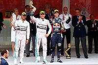 MONTE CARLO, MONACO, 25.05.2014 - F1 GP DE MONACO - O piloto alemão Nico Rosberg, da Mercedes, comemora após vencer o GP de Mônaco de Fórmula 1, realizado em Monte Carlo, neste domingo (25).  (Foto: Pixathlon / Brazil Photo Press).
