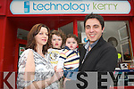 Owners of the Kerry Technology shop in Cahersiveen. .L-R Olivia Goggin, Adam, Alex and Tarek Nassar
