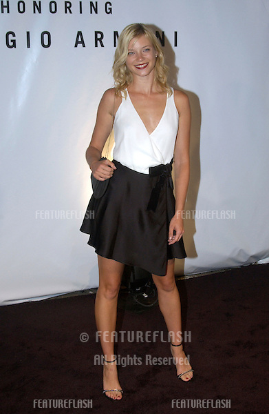 Actress AMY SMART at fashion show event on Rodeo Drive, Beverly Hills, where designer Giorgio Armani was honored with the first Rodeo Drive Walk of Style Award..Sept 9, 2003