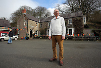 Pictured: Colin Evans, owner of the Cresselly Arms pub in Cresswell Quay, Pembrokeshire, Wales, UK. Thursday 16 March 2017<br /> Re: A racehorse owned by a syndicate from Pembrokeshire which was a favourite to win at this year's Cheltenham Festival, has lost.<br /> Tobefair, a seven-year-old gelding, has won his last seven races.<br /> He was gifted as a colt to Michael Cole three years ago, in return for looking after two fillies on his farm.<br /> Unable to afford the training costs on his own, he decided to offer 50% of the ownership to people he knew through his local pub, the Cresselly Arms at Cresswell Quay Quay.<br /> The syndicate grew to 17 members but none except Mr Cole had owned a racehorse before.<br /> They said they were amazed when Tobefair started winning races and never dreamed he would make it to Cheltenham.