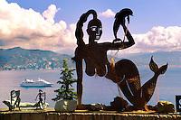 Portofino . Sculpture by Scaffiano at Castle brown . Italy