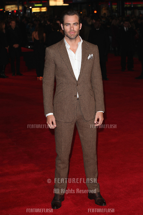 Chris Pine arriving for the UK Premiere of Jack Ryan, at Vue Leicester Square, London. 20/01/2014 Picture by: Alexandra Glen / Featureflash