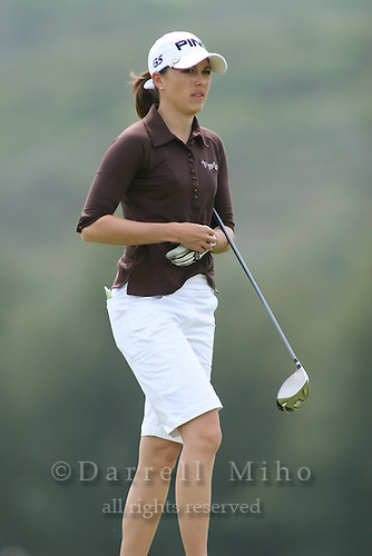 February 18, 2006; Kahuku, HI - Stacy Prammanasudh walks up the fairway during the final round of the LPGA SBS Open at Turtle Bay Resort...Mandatory photo credit: Darrell Miho.© Darrell Miho