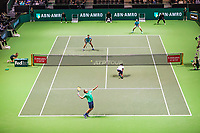 Rotterdam, The Netherlands, 17 Februari 2019, ABNAMRO World Tennis Tournament, Ahoy, Jean-Julien Rojer (NED) / Horia Tecau (ROU) vs Jeremy Chardy (FRA) / Henri Kontinen (FIN),<br /> Photo: www.tennisimages.com/Henk Koster
