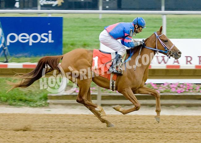 Sugar Sand winning at Delaware Park on 6/25/12