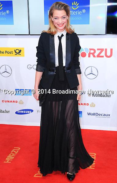 Pictured: Heike Makatsch<br /> Mandatory Credit &copy; Adhemar Sburlati/Broadimage<br /> 2014 Goldene Kamera Awards - Arrivals<br /> <br /> 2/6/14, Munich, , Germany<br /> <br /> Broadimage Newswire<br /> Los Angeles 1+  (310) 301-1027<br /> New York      1+  (646) 827-9134<br /> sales@broadimage.com<br /> http://www.broadimage.com