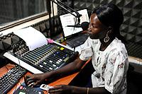 SOUTH SUDAN, capital city Juba / SUED-SUDAN  Hauptstadt Juba , Moderatorin des Radiosender Bakhita der katholischen Kirche