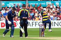 Graham Wagg in bowling action for Glamorgan during Essex Eagles vs Glamorgan, NatWest T20 Blast Cricket at The Cloudfm County Ground on 16th July 2017
