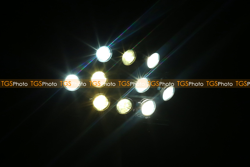 A view of a floodlight in use during Stevenage vs Brighton & Hove Albion Under-23, Checkatrade Trophy Football at the Lamex Stadium on 4th October 2016