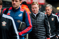 Ronald Koeman Manager of Southampton arrives at the Liberty Stadium the Barclays Premier League match between Swansea City and Southampton  played at the Liberty Stadium, Swansea  on February 13th 2016