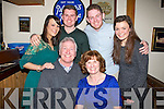 60th: Maureen Jones who celebrated her 60th Birthday in the Oyster Tavern Tralee on saturday night with her family and friends. Fronbt John and Maureen Jones. Back l-r: Anabel Cando-Farinas, Tom Mc Cabe, Joe McCabe and Lucy Zwolinska.