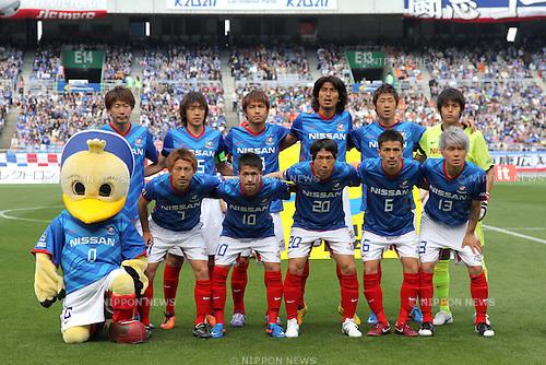 Yokohama Marinos team group line-up, April 29th, 2011 - Football : 2011 J.LEAGUE Division 1, 8th Sec match between Yokohama Marinos 1-1 Shimizu S-Pulse at Nissan Stadium, Kanagawa, Japan. (Photo by Akihiro Sugimoto/AFLO SPORT) [1080].