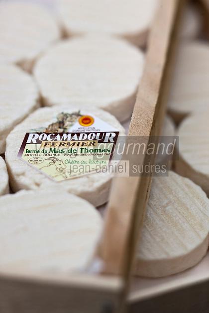 Europe/Europe/France/Midi-Pyrénées/46/Lot/Saint-Sulpice: AOP Rocamadour de la Ferme du Mas de Thomas