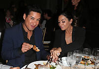 BEVERLY HILLS, CA - OCTOBER 12: ***HOUSE COVERAGE***  Mario Lopez and Courtney Mazza at the Eva Longoria Foundation Gala at The Four Seasons Beverly Hills in Beverly Hills, California on October 12, 2017. Credit: Faye Sadou/MediaPunch
