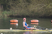 Caversham. Berkshire. UK<br /> Ollie VARLEY.<br /> 2016 GBRowing U23 Trials at the GBRowing Training base near Reading, Berkshire.<br /> <br /> Monday  11/04/2016 <br /> <br /> [Mandatory Credit; Peter SPURRIER/Intersport-images]