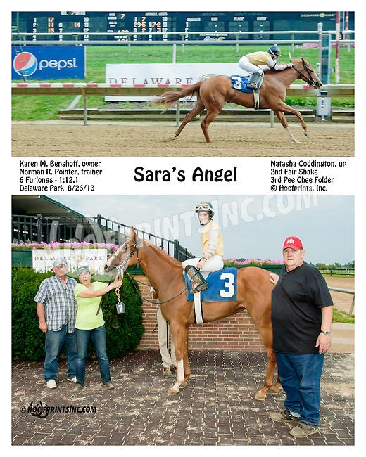 Sara's Angel winning at Delaware Park on 8/26/2013