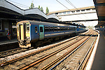 National Express train, Ipswich railway station, Suffolk, England