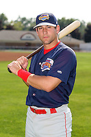7/26/2007:  Chris Fourmier of the Brooklyn Cyclones, Short-Season Class-A affiliate of the New York Mets a Dwyer Stadium in Batavia, NY.  Photo by:  Mike Janes/Four Seam Images