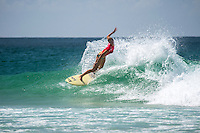 COOLANGATTA, Queensland/Australia (Tuesday, March 3, 2015) Bianca Buitendag (ZAF). - Round 2 of the  Roxy Pro Gold Coast was held today. The event got underway today at 11.30 a.m. local time after being put on hold twice during the morning.<br /> <br /> Stephanie Gilmore (AUS)  competed in Round 2 today and advanced to Round 3 after defeating wildcard Bronte MacAulay (AUS) in a close surfed heat..<br /> Tyler Wright  (AUS) also advanced to Round 3 after winning her heat against Alessa Cuzion (HAW)<br /> -  Photo: joliphotos.com