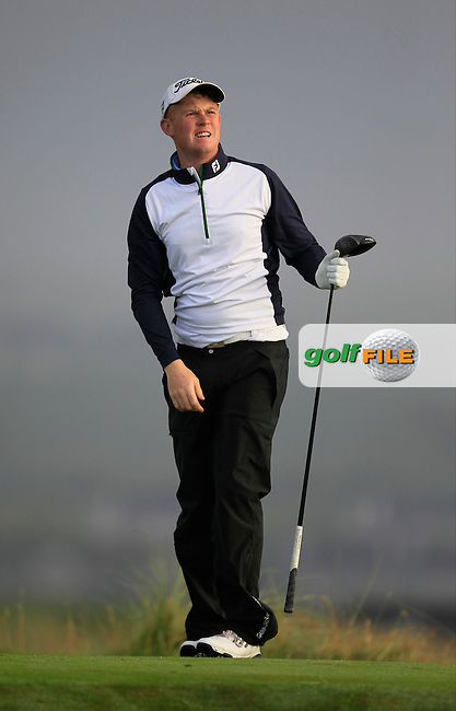 Eanna Griffin (Waterford) on the 2nd tee during the South of Ireland Amateur Open Championship Second Round at Lehinch Golf Club  28th July 2013 <br /> Picture:  Thos Caffrey / www.golffile.ie
