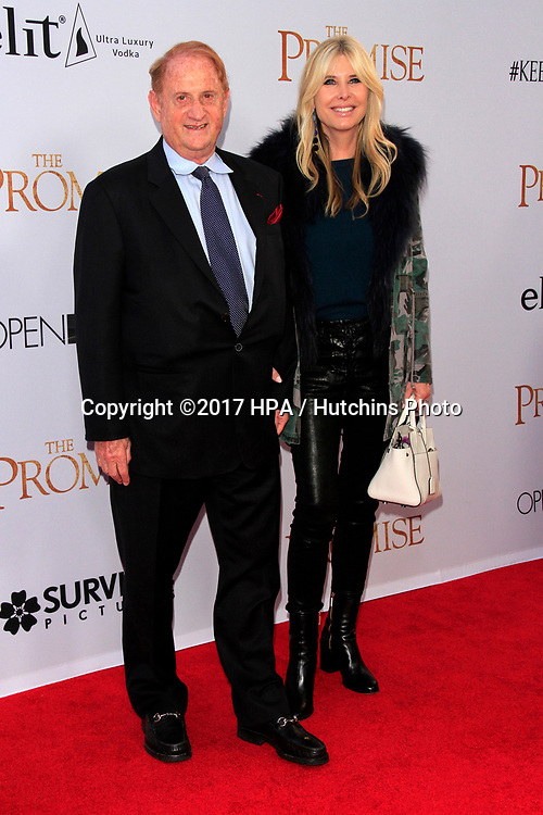 "LOS ANGELES - APR 12:  Mike Medavoy, Irena Medavoy at the ""The Promise"" Premiere at the TCL Chinese Theater IMAX on April 12, 2017 in Los Angeles, CA"