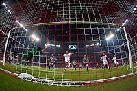 30.09.2009, Alianz Arena München, GER, UEFA CL, FC Bayern München vs Juventus Turin EXPA Pictures © 2009, Photographer Insidefoto/EXPA/ J. Groder<br /> Gianluigi Buffon ( Juventus #1, ITA ) vs Daniel van Buyten, ( FC Bayern #5, GER )
