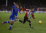 Kieron Freeman of Sheffield Utd gets past Ryan McLaughlin of Oldham during the English League One match at Bramall Lane Stadium, Sheffield. Picture date: December 26th, 2016. Pic Simon Bellis/Sportimage