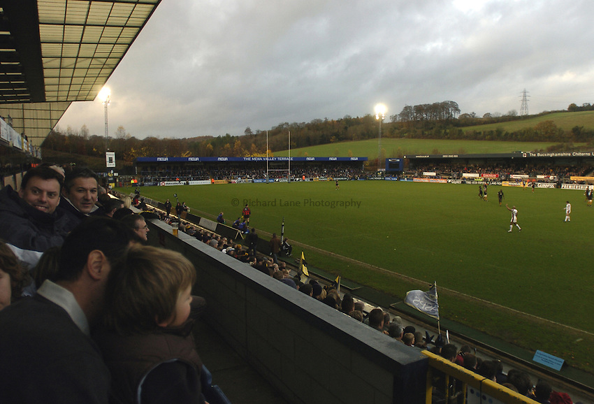 Photo: Jonathan Butler..London Wasps v Leicester Tigers. Guinness Premiership. 26/11/2006..View from the Hospitality Suites at Adams Park.