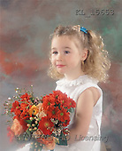 Interlitho, Alberto, CHILDREN, photos, blond girl, flowers(KL15653,#K#) Kinder, niños