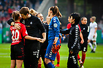 01.05.2019, RheinEnergie Stadion , Köln, GER, DFB Pokalfinale der Frauen, VfL Wolfsburg vs SC Freiburg, DFB REGULATIONS PROHIBIT ANY USE OF PHOTOGRAPHS AS IMAGE SEQUENCES AND/OR QUASI-VIDEO<br /> <br /> im Bild | picture shows:<br /> enttäuschte | traurige Freiburgerinnen nach der knappen Niederlage, <br /> <br /> Foto © nordphoto / Rauch