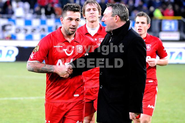 voetbal sc heerenveen - fc twente eredivisie seizoen 2010-2011 12-12-2010 theo janssen en ron jans