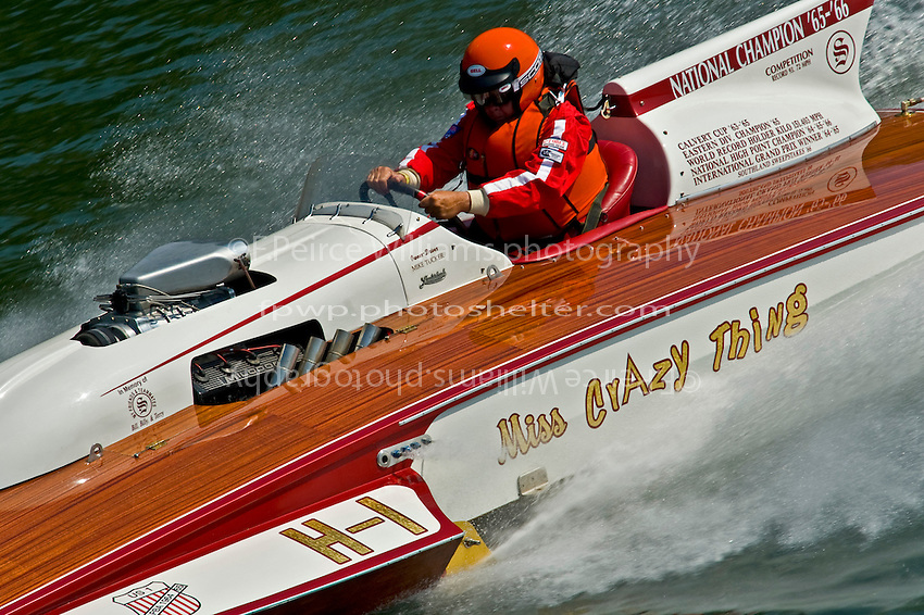 "Mike Tucker, H-1 ""Miss Crazy Thing"" (7 Litre class Lauterbach hydroplane)"