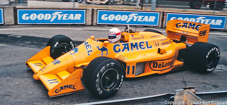 Satoro Nakajima, Lotus 99T, Detroit 1987