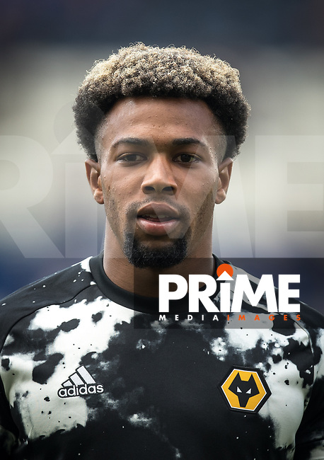 Adama Traoré of Wolves pre match during the Premier League match between Leicester City and Wolverhampton Wanderers at the King Power Stadium, Leicester, England on 10 August 2019. Photo by Andy Rowland.