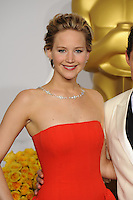 Jennifer Lawrence at the 86th Annual Academy Awards at the Dolby Theatre, Hollywood.<br /> March 2, 2014  Los Angeles, CA<br /> Picture: Paul Smith / Featureflash