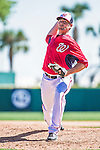 13 March 2014: Washington Nationals pitcher Robert Gilliam on the mound during a Spring Training game against the New York Mets at Space Coast Stadium in Viera, Florida. The Mets defeated the Nationals 7-5 in Grapefruit League play. Mandatory Credit: Ed Wolfstein Photo *** RAW (NEF) Image File Available ***