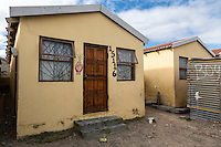 South Africa, Cape Town, Guguletu Township.  Recently-constructed House for African Occupants.